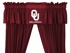 NEW Oklahoma Univ. OU Sooners Jersey Window Valance