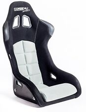 Corbeau Sprint Black Grey cloth Bucket Motorsport Seat FIA Track Day Kevlar GRP