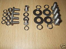VW CLASSIC BEETLE BONNET HINGE & HANDLE & CATCH STAINLESS STEEL  BOLTS SCREWS