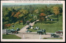 UNIONTOWN PA Summit Hotel National Highway Picnic Grove Vintage Cars Postcard PC