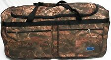 "36"" TRAVEL, GYM, ROLLER GEAR BAG  / BROWN NATURE CAMO WHEEL/WHEELIE BAG"