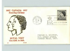 CANADA; Royal Visit of Queen Elizabeth and Prince Phillip, 1957, thermograph ink