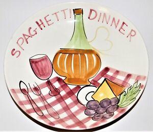 Vintage Los Angeles Pottery Spaghetti Dinner Pasta Serving Bowl 1956 USA