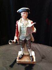"""Colonist """"Town Crier"""" Figurine Statue by Andrea by Sadek  12 inches  #6966 Exc"""