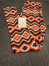 Lularoe Legging NWT And In Package OS One Size Purple Yellow Orange Black Geo