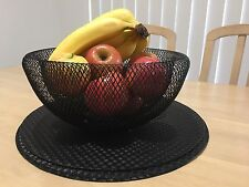 Decorative designer fruit bowl, Wire Black, bread basket, plate
