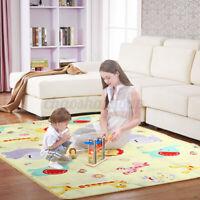 Reversible Baby Kids Play Crawling Mat Cartoon Children Double-sided Folding Mat