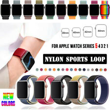 38/42/40/44mm Nylon Sports Band Strap for Apple Watch Series 5 4 3 2 1