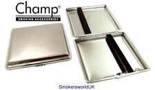 Cigarette Case -- Champ Shiny Silver 20 King Size -- NEW chks12