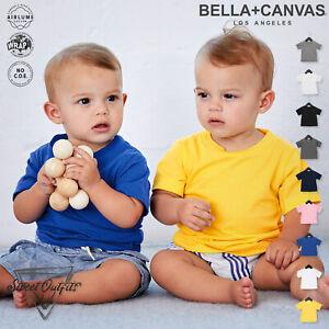 Baby Jersey Short Sleeve T-Shirt Bella Canvas Soft Tee Top Toddler Boys Girls