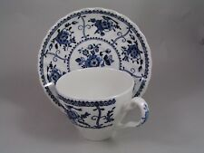 JOHNSON BROTHERS INDIES CUP AND SAUCER, (PATTERN ON HANDLE).