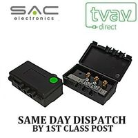 SAC 2 Way Outdoor TV Aerial Splitter Freeview (with DC Pass) GREEN A1050