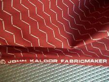 Vintage John Kaldor Rust Ivory Chevron Crepe de Chine Chiffon Wgt. 44 Wide BTY