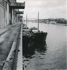 PARIS c. 1950 - Bâteaux au Port prêt du Pont D'Austerlitz Paris -DIV 5187