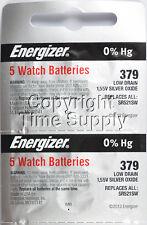 10 pcs 379 Energizer Watch Batteries SR521SW SR521 0%HG