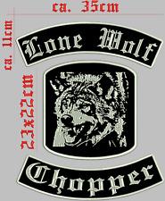 Lone Wolf STREETFIGHTER patch di schiena ricamate