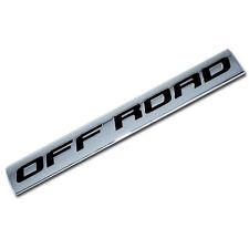 CHROME/BLACK METAL OFF ROAD ENGINE RACE MOTOR SWAP BADGE FOR TRUNK HOOD DOOR
