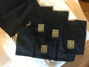 BIBA  BLACK AND GOLD  4 X NAPKINS