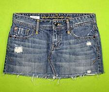 Nice Ruehl sz 24 Womens Blue Jeans Denim Mini Skirt JA69