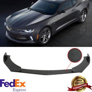 For Chevy Camaro Chevrolet 15-20 Front Bumper Lip Spoiler Splitter Carbon Style