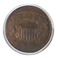 1868 Two Cent Piece Very Fine Condition