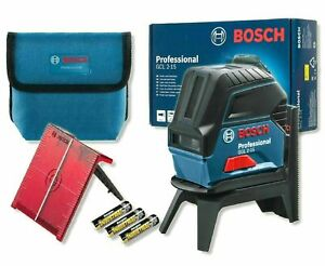 BOSCH GCL2-15 Professional Self-Levelling Cross Line Laser Rotating Wall Mount