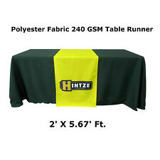 Custom Table Runner for Table Tradeshow, Table Cover not Included, 2' X 5.67'