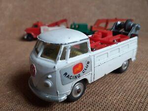 Vintage Corgi Toys VW Volkswagen Racing Club Die-cast Model Pickup Truck