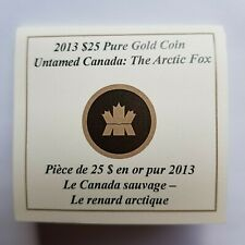 Canada - 25 Dollars - 2013 - Untamed Canada - Arctic Fox - Gold Coin - CoA Only