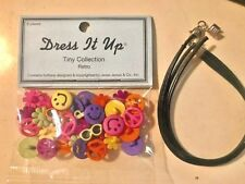 Dress It Up - Tiny Collection Retro Beads - Smiles, Flowers, Pace & Sunglasses
