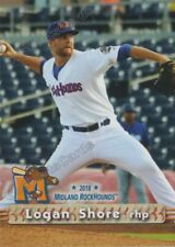 2018 Midland RockHounds Logan Shore RC Rookie Oakland Athletics