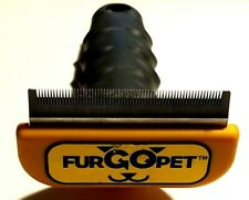 FURGOPET - LARGE DOG DESHEDDER TOOL - PREOWNED - REMOVES LOOSE UNDERCOAT HAIR