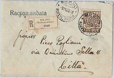 64161 - ITALIA REGNO - STORIA POSTALE : Sass 145 Marcia su Roma  su BUSTA  1923