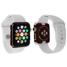 Skinomi Legno Scuro Aderente + Protezione Schermo per Orologio di Apple 42mm