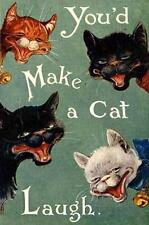 CAT, CHAT, KATZE, CATS LAUGHING, LOUIS WAIN, MAGNET