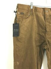 NWT Polo Ralph Lauren Men's Varick Slim Straight Corduroy Pants 38 x 32 Brown