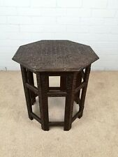 Antique Octagonal Folding Anglo Indian Occasional / Side Table