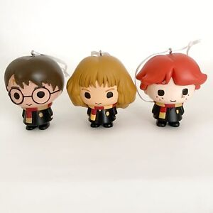 Harry Potter Christmas Tree Ornaments Harry Ron Weasley & Hermione Granger