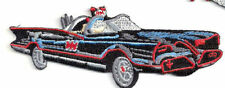 "DC COMICS BATMAN BATMOBILE LARGE 6"" LONG X 2 1/2"" TALL EMBROIDERED PATCH"