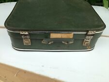 antique retro suitcase carry case luggage travel green