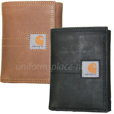 Carhartt Trifold Wallets Mens Leather Wallet Legacy Passcase Brown, Black CH2312
