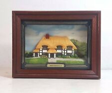 HAND PAINTED DIMENSIONAL IRISH FARMHOUSE IN A WALL HANGING SHADOWBOX FRAME