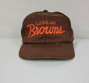 Vintage Cleveland Browns Sports Specialties The Twill Script Snapback Hat Cap