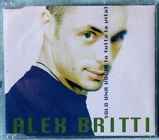 ALEX BRITTI - SOLO UNA VOLTA (O TUTTA LA VITA) - 1 CD n.3380 SINGOLO