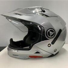 AFX FX55 Dual Sport Motorcycle Helmet Silver Medium