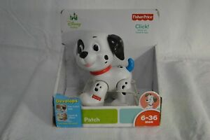 NEW Fisher-Price Disney Baby Patch 101 Dalmations Dog Puppy Click Rattle Toy