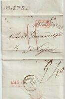 1836 ITALIA FRANCIA PREFILATELICA CON TESTO DA ITALIE PONT DE BEAUVOISIN X LYON