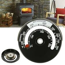 Stove Thermometer Heat Powered Fan The Magnetic Log Wood Burner Alloy Plastic
