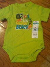 Okie Dokie Motorcycle Vroom Green Bodysuit Romper 1 Piece Baby Boy 9 Months