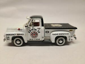 Matchbox Collectibles 1955 Ford F100 Santa Fe Red Crown Gasoline Gas 1:43 Read